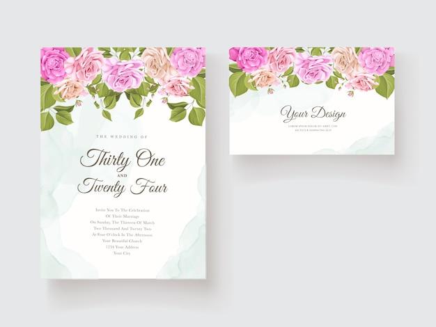 Свадебные приглашения с красивым цветочным дизайном