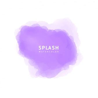 紫の水彩スプラッシュ
