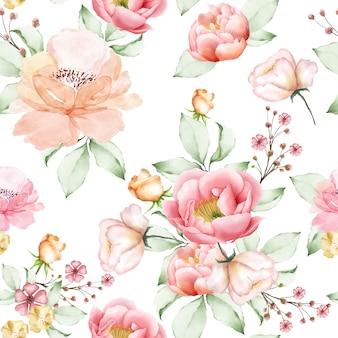 Красивая акварель цветочные бесшовные