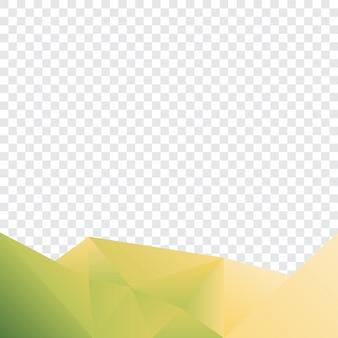 幾何学的背景緑色