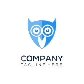 Логотип совы умный