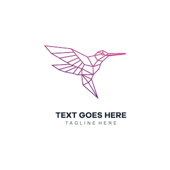 Птица моно линия логотип