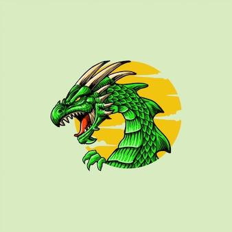 怒っているドラゴンアートワーク