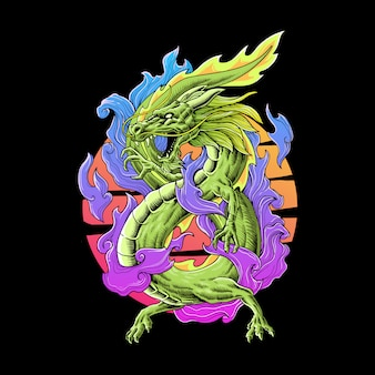 Дракон полноцветная иллюстрация