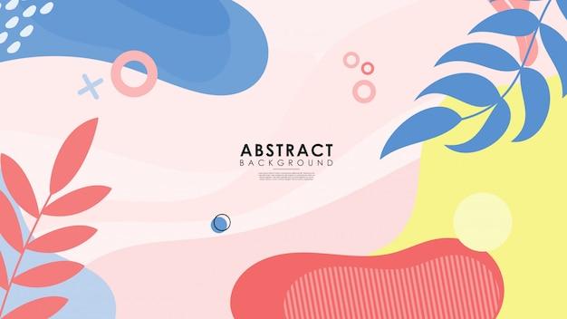 Цветной абстрактный фон с растениями