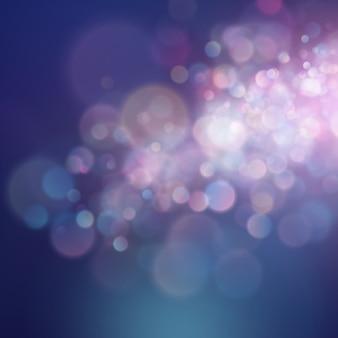 カラフルな抽象的な鮮やかなぼかしソフトカラースタイルの背景のボケ円。キラキラホリデーパープルブルーピンク。贅沢な自然な風合い。