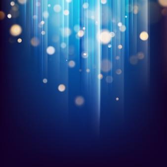 キラキラのゴールドライトは粒子を抽象化します。暗いお祭りの抽象的な背景の多重ボケ味。