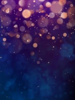 ボケ円とお祝いのエレガントな抽象的な暗い紫色の背景。