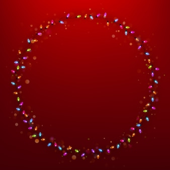 Праздник рама с рождественские огни.