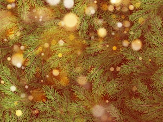 Украшения предпосылки рождественской елки с запачканным, искрящимся, накаляя светом. с новым годом шаблон.