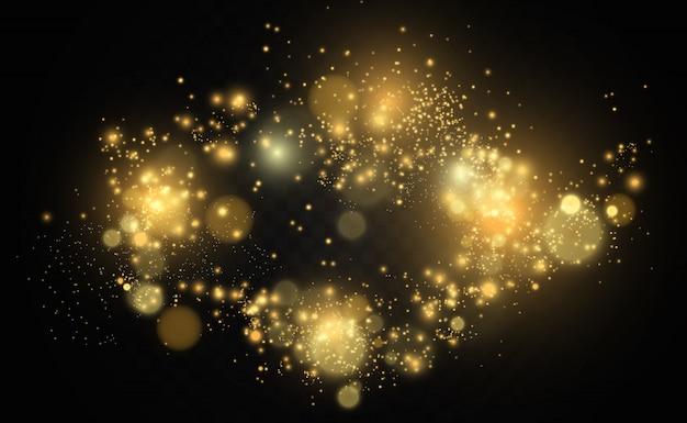 美しい火花が特別な光で輝きます。