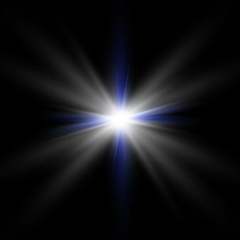 Белый красивый свет взрывается прозрачным взрывом. , яркая иллюстрация для идеального эффекта с блестками. яркая звезда. прозрачный блеск градиента блеска, яркая вспышка.