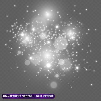 透明な背景の美しい画像のための星の光のイラスト、まぶしさと美しい輝き