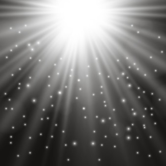 Белый красивый свет взрывается прозрачным взрывом. вектор, яркие иллюстрации для идеального эффекта с блестками. яркая звезда. прозрачный блеск градиента блеска, яркая вспышка.