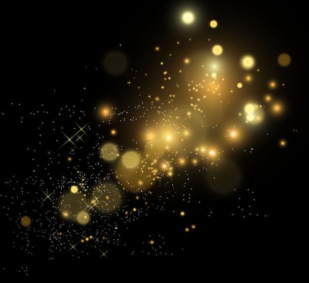 鮮やかなゴールドのダストが輝きます。きらびやかな光沢。