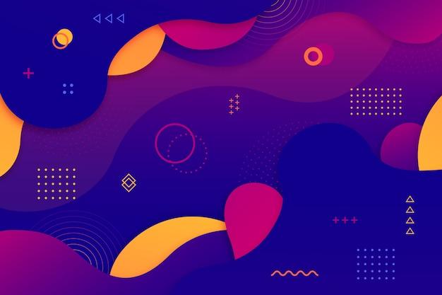 カラフルな幾何学的な抽象的な背景