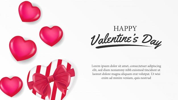 かわいいハースの形をした幸せなバレンタインデー