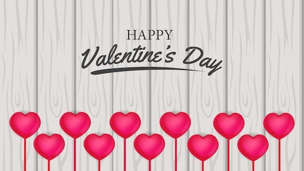 木の上のバレンタインデーのバナー愛