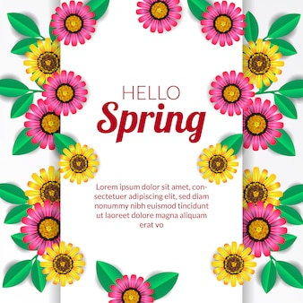 こんにちは春の花