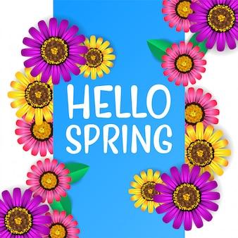 Привет весна вид сверху цветок цвести