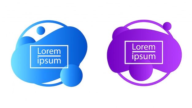 液体グラデーションバブルブロブ抽象的な形