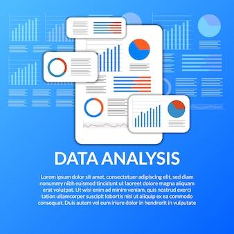 Анализ данных мобильного приложения из диаграммы, графика, статистики для бизнеса, финансов, отчета
