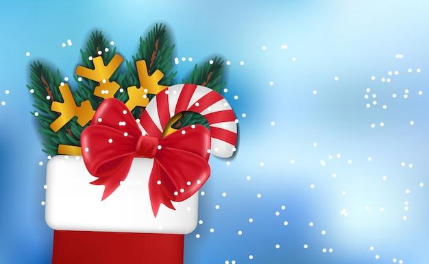 Настоящий носок рождественский супер распродажа фон