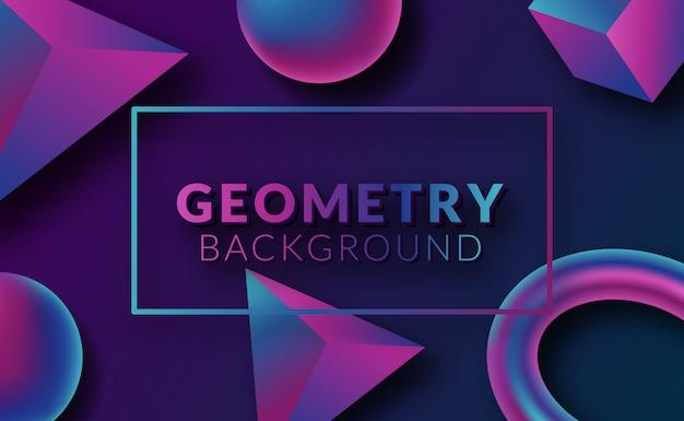 Современный абстрактный геометрический фон с футуристическим неоновым градиентом
