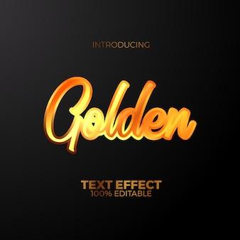 Золотая гравировка эмблема текстовый эффект для эмблемы роскоши королевской редактируемой.