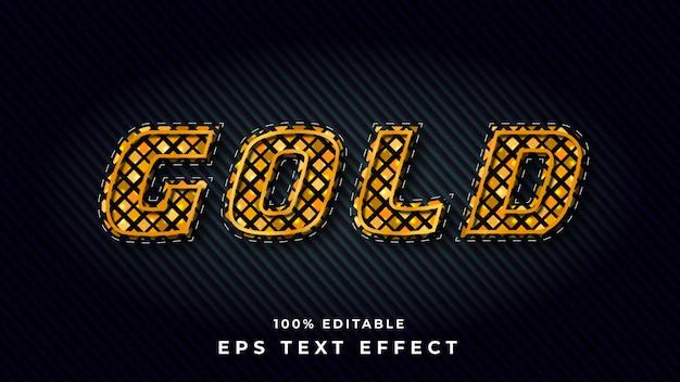 Редактируемый эффект золотого текста