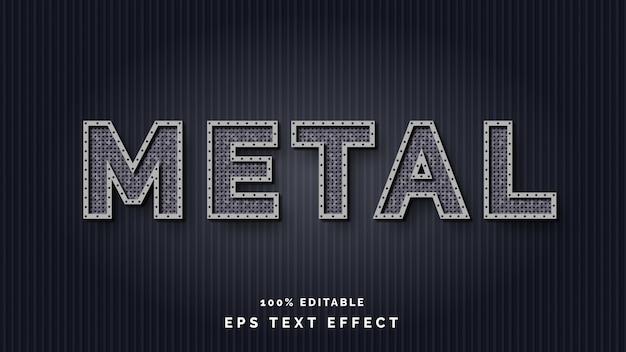 Редактируемый металлический текстовый эффект