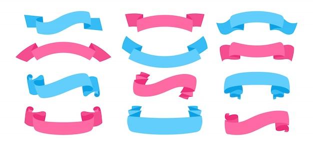 リボン手描きセット色テープ