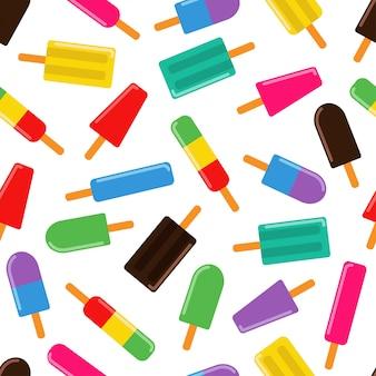 Мороженое бар бесшовные шаблон
