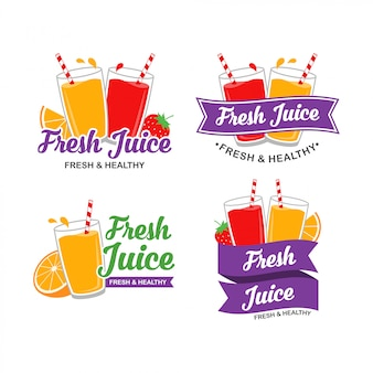 Свежий дизайн логотипа сока
