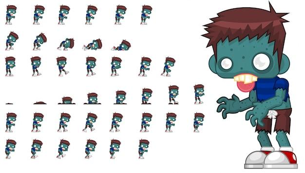 Зомби игра спрайт