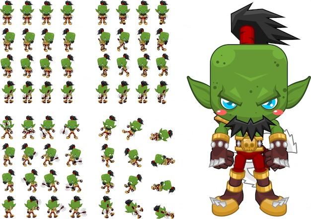 オーク戦士のゲームキャラクター