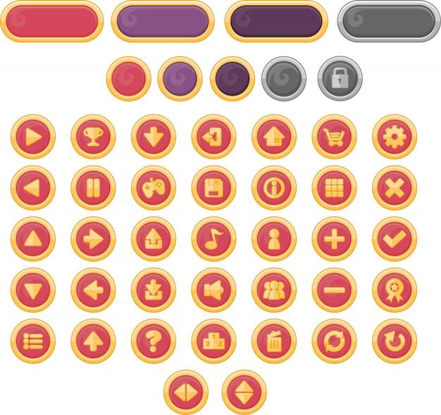 ハロウィーンのゲームボタン