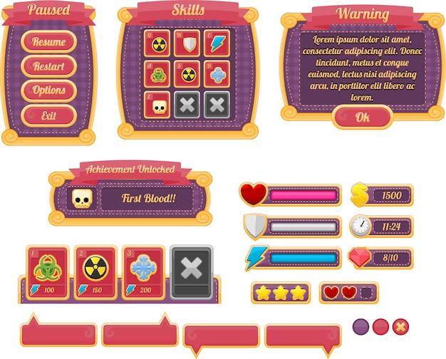Фиолетовый игровой интерфейс