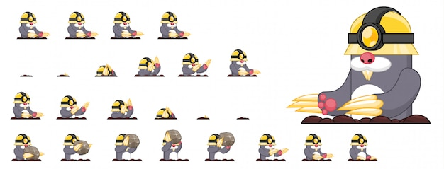 Крот игра спрайт