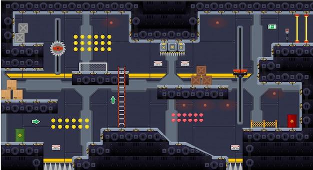 宇宙船ゲームのタイルセット
