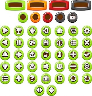 グリーンカジュアルボタン