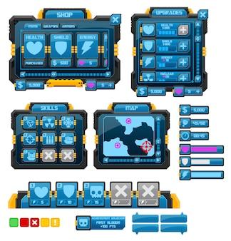 Научно-фантастический игровой интерфейс