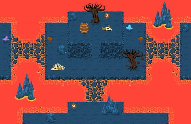 溶岩ゲームのタイルセット