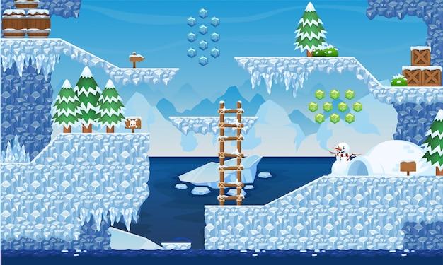 北極ゲームのタイルセット