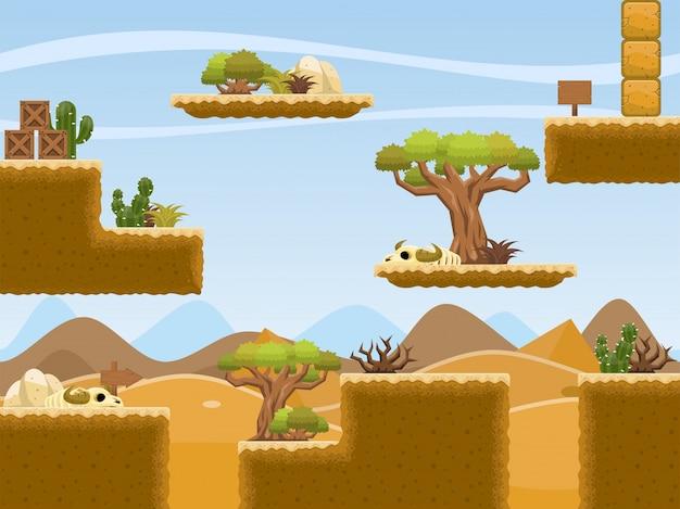 砂漠のゲームタイルセット