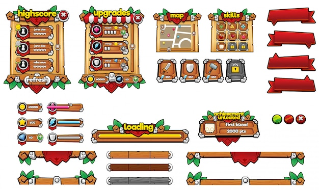 Средневековый игровой интерфейс