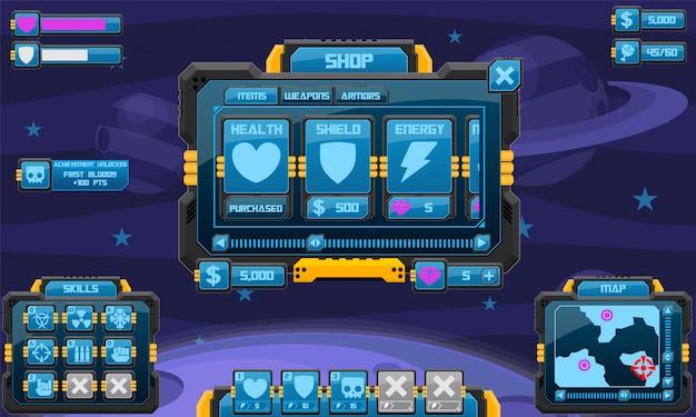 Пользовательский интерфейс космической игры