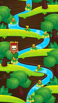 川のゲームレベルマップ
