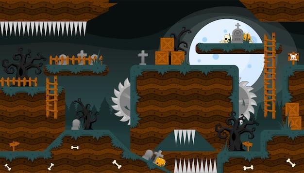 怖い墓地ゲームタイルセット