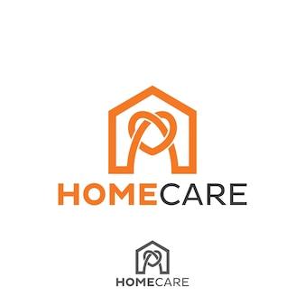 Недвижимость, концепция домашнего логотипа